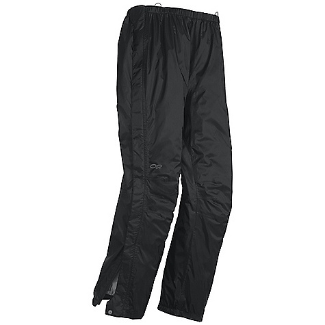 On Sale. Free Shipping. Outdoor Research Men's Rampart Pant DECENT FEATURES of the Outdoor Research Men's Rampart Pant Waterproof Lightweight Durable Fully Seam Taped Accepts Accessory Suspenders Elastic Waist with Drawcord Rear Pocket Rear Pocket Doubles as Stuff Sack Double-Separating Side Zippers Gusseted Crotch Articulated Knees Cuff Closures Grommets for Instep Lace The SPECS Weight: (L): 11.2 oz / 316 g Fit: Standard Inseam: 32in. / 81 cm Barrier, 100% nylon 70D This product can only be shipped within the United States. Please don't hate us. - $54.99