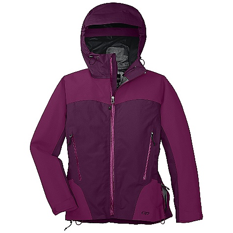 On Sale. Free Shipping. Outdoor Research Women's Enigma Jacket DECENT FEATURES of the Outdoor Research Women's Enigma Jacket Hybrid Mapped construction Waterproof Windproof Breathable Durable Fully seam taped Water-resistant zippers Fully adjustable hood fits over helmet Double-separating front zipper Internal Front-Zip Stormflap Double-sliding TorsoFlo hem-to-bicep zippers Zippered internal pocket with media port Two zippered hand pockets Thumb Drive Hook/loop cuff closures Drawcord back hem The SPECS Weight: (M): 15.9 oz / 450 g Standard Fit Center Back Length: 26 1/2in. / 67 cm Gore-Tex Pro 3L, 100% nylon: 70D Pro shoulders and upper sleeve panel Gore-Tex with Paclite Technology 70D body This product can only be shipped within the United States. Please don't hate us. - $173.99