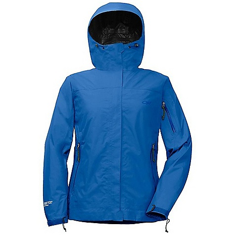 On Sale. Free Shipping. Outdoor Research Women's Aspire Jacket DECENT FEATURES of the Outdoor Research Women's Aspire Jacket Waterproof Breathable Lightweight Fully Seam Taped Fully Adjustable Hood Double-Separating and Water-Resistant Front Zipper Internal Front-Zip Stormflap Double-Sliding TorsoFlo Hem-To-Bicep Zippers Two Zippered Hand Pockets Arm Pocket Elastic Cuffs Hook/Loop Cuff Closures Drawcord Hem Stuffs Into Left Hand Pocket The SPECS Weight: (M): 13.7 oz / 388 g Standard Fit Center Back Length: 26 3/4in. / 68 cm Gore-Tex Paclite Technology 2.5L, 100% polyester 50D This product can only be shipped within the United States. Please don't hate us. - $118.99