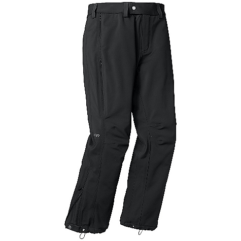 On Sale. Free Shipping. Outdoor Research Women's Solitude Pant DECENT FEATURES of the Outdoor Research Women's Solitude Pant Highly water-resistant/breathable, bonded soft shell fabric nylon face, brushed fleece interior Fully seam taped Zippered fly with offset hook/loop closure Zippered security pocket Side vents with concealed zippers Gusseted crotch Articulated knees Gusseted cuffs with snap and zipper closures Drawcord cuff adjustments Grommets for instep lace The SPECS Average Weight: (M): 16.9 oz / 480 g Standard Fit This product can only be shipped within the United States. Please don't hate us. - $89.99