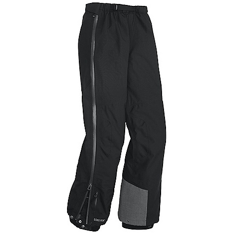 On Sale. Free Shipping. Outdoor Research Women's Enigma Pant DECENT FEATURES of the Outdoor Research Women's Enigma Pant Waterproof Breathable Fully seam taped Hybrid construction Water-resistant zippers Accepts accessory suspenders Integrated belt Snap and double-sliding zipper fly Full-length, double-separating side zippers Gusseted crotch Articulated knees Zip-out internal mesh gaiters with gripper elastic Reinforced ankle scuff guards Snap/drawcord cuff closures Grommets for instep lace The SPECS Weight: (M): 19.0 oz / 537 g Standard Fit Inseam: 32in. / 81 cm Gore-Tex Pro 3L, 100% nylon: 70D Pro seat and knees Gore-Tex with Paclite Technology 70D body This product can only be shipped within the United States. Please don't hate us. - $212.99