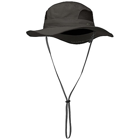 Outdoor Research Transit Sun Hat FEATURES of the Outdoor Research Transit Sun Hat Breathable Lightweight Wicking Protective SolarShield Construction UPF 50+ Wicking TransAction Headband Breathable Mesh Panels External Drawcord Adjustment Removable Chin Cord - $37.00