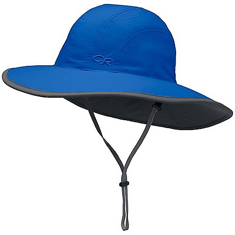 Outdoor Research Kid's Rambler Sombrero DECENT FEATURES of the Outdoor Research Kids' Rambler Sombrero Breathable Wicking Protective SolarShield Construction UPF 30 Foam-Stiffened Brim Floats Wicking TransAction Headband External Drawcord Adjustment Break-Away Chin Cord The SPECS Weight: (M): 2.4 oz / 67 g 100% Supplex nylon This product can only be shipped within the United States. Please don't hate us. - $28.95
