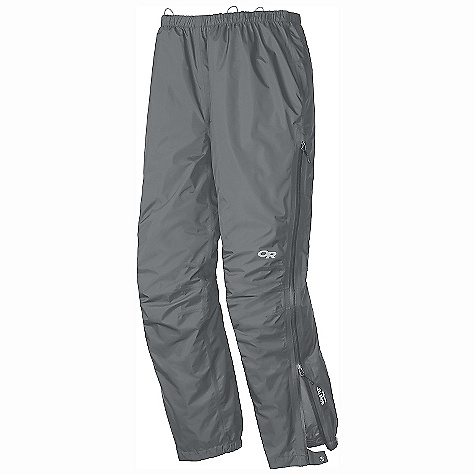 Free Shipping. Outdoor Research Men's Foray Pant DECENT FEATURES of the Outdoor Research Men's Foray Pant Waterproof Breathable Lightweight Fully Seam Taped Water-Resistant Zippers Accepts Accessory Suspenders Elastic Waist with Drawcord Rear Pocket Doubles as Stuff Sack 3/4 Length Side Zippers with Internal Windflap Gusseted Crotch Articulated Knees Cuff Closures Internal Loops for Instep Lace The SPECS Weight: (L): 10.7 oz / 302 g Standard Fit Inseam: 31 1/2in. / 80 cm Gore-Tex l2.5L, 100% polyester 50D Paclite Technology This product can only be shipped within the United States. Please don't hate us. - $159.95