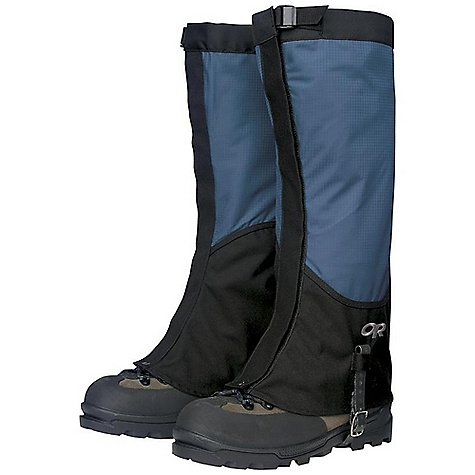 On Sale. Free Shipping. Outdoor Research Men's Verglas Gaiters DECENT FEATURES of the Outdoor Research Men's Verglas Gaiters Ventia Dry Construction Waterproof Ventia leg Durable, abrasion-resistant Cordura boot Boot section shaped for durability, ventilation Webbing and cam buckle top closure 1 1/2in.-Wide hook/loop front closure Double-riveted boot lace hook Hypalon instep strap The SPECS Weight: (L, per pair): 7.4 oz / 210 g Fabric: 100% nylon, 3-layer, 50D ripstop Ventia, Coated 500D Cordura This product can only be shipped within the United States. Please don't hate us. - $39.99
