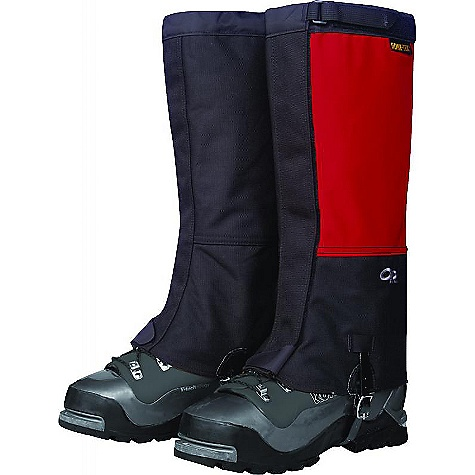 On Sale. Free Shipping. Outdoor Research Men's Crocodiles Gaiters DECENT FEATURES of the Outdoor Research Men's Crocodiles Gaiters Back packer Magazine Editors' Choice Gold Award Ruggedly durable Waterproof Gore-Tex leg Highly tear- and abrasion-resistant Cordura inner leg and boot Abrasion-resistant lower boot lined with 8 oz pack cloth Larger circumference accommodates plastic boots Webbing/cam buckle top closure 2in.-Wide hook/loop front closure Double-stitched front closure Bottom shear tab secures front closure Double-riveted boot lace hook Urethane-coated nylon instep strap Instep strap is field-replaceable The SPECS Weight: (L, per pair): 10.2 oz / 289 g Fabric: 100% nylon, 3-layer, 70D Taslan Gore-Tex, 1000D Cordura This product can only be shipped within the United States. Please don't hate us. - $59.99