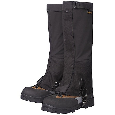 On Sale. Free Shipping. Outdoor Research Women's Crocodiles Gaiters DECENT FEATURES of the Outdoor Research Women's Crocodiles Gaiters Backpacker Magazine Editors' Choice Gold Award Ruggedly durable Waterproof Gore-Tex leg Highly tear-and abrasion-resistant Cordura inner leg and boot Abrasion-resistant lower boot lined with 8 oz pack cloth Larger circumference accommodates plastic boots Webbing/cam buckle top closure 2in.-Wide hook/loop front closure Double-stitched front closure Bottom shear tab secures front closure Double-riveted boot lace hook Urethane-coated nylon instep strap Instep strap is field-replaceable The SPECS Weight: (M, per pair): 8.9 oz / 252 g Fabric: 100% nylon, 3-layer, 70D Taslan Gore-Tex, 1000D Cordura This product can only be shipped within the United States. Please don't hate us. - $62.99