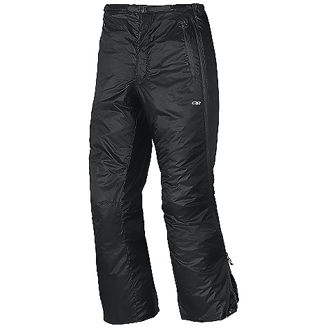 Free Shipping. Outdoor Research Men's Neoplume Pant DECENT FEATURES of the Outdoor Research Men's Neoplume Pant Water Resistant Wind Resistant Breathable Snap and Zipper Fly Elastic Back Waistband Zippered Pockets Double-Separating Side Zippers Articulated Knees The SPECS Weight: (L): 15.7 oz / 446 g Standard Fit Inseam: 33in. / 184 cm 100% nylon, 30D ripstop shell 100% nylon 30D lining PrimaLoft Eco 60g insulation This product can only be shipped within the United States. Please don't hate us. - $149.95