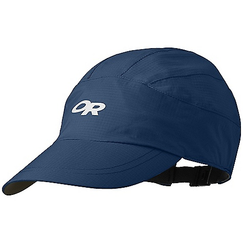 Outdoor Research Revel Cap DECENT FEATURES of the Outdoor Research Revel Cap Waterproof Breathable Lightweight Wicking Seam Taped Plastic-Stiffened Brim Dark Fabric Under Brim Reduces Glare Wicking Transaction Headband Quick-Release Buckle Closure Reflective Logos The SPECS Weight: 1.7 oz /48 g Pertex Shield DS 2.5L, 100% nylon 40D stretch ripstop This product can only be shipped within the United States. Please don't hate us. - $26.95