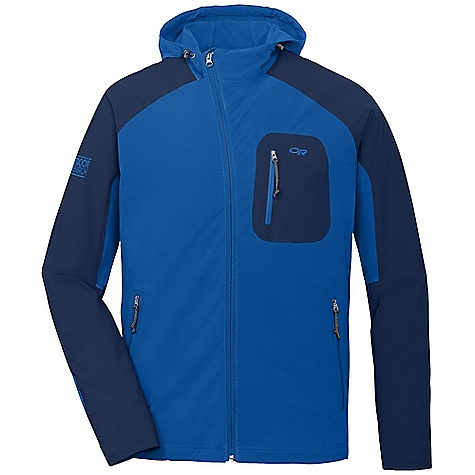 Free Shipping. Outdoor Research Men's Ferrosi Hoody DECENT FEATURES of the Outdoor Research Men's Ferrosi Hoody Water Resistant Wind Resistant Breathable Lightweight Durable Movement-Mirroring Stretch Fully Adjustable Hood Offset Center Front Zipper Single-Separating Front Zipper Zippered Napoleon Pocket Two Zippered Hand Pockets Left Hand Pocket Doubles as Stuff Sack Carabiner Loop Drawcord Hem DWR Coated Zippers The SPECS Weight: (L): 14.1 oz / 354 g Standard Fit Center Back Length: 30 1/2in. / 75 cm 91% nylon Cordura, 9% spandex shoulders 86% ripstop, 14% spandex body, stretch-woven This product can only be shipped within the United States. Please don't hate us. - $124.95