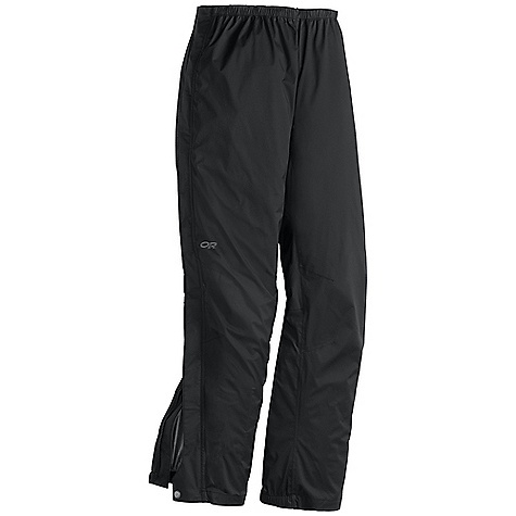 Free Shipping. Outdoor Research Men's Revel Pant DECENT FEATURES of the Outdoor Research Men's Revel Pant Waterproof Breathable Lightweight Fully Seam Taped Accepts Accessory Suspenders Elastic Waist with Drawcord Rear Pocket Rear Pocket Doubles as Stuff Sack Double-Separating Side Zippers Gusseted Crotch Articulated Knees Cuff Closures Internal Loops for Instep Lace The SPECS Weight: (L): 12.3 oz / 349 g Standard Fit Inseam: 32in. / 81 cm Pertex Shield DS 2.5L, 100% nylon 40D stretch ripstop This product can only be shipped within the United States. Please don't hate us. - $138.95