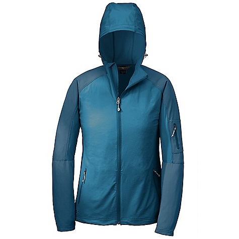 Free Shipping. Outdoor Research Women's Ferrosi Hoody DECENT FEATURES of the Outdoor Research Women's Ferrosi Hoody Water Resistant Wind Resistant Breathable Lightweight Durable Fully Adjustable Hood Offset Center-Front Zipper Single-Separating Front Zipper Two Zippered Hand Pockets Zippered Arm Pocket Left Hand Pocket Doubles as Stuff Sack Carabiner Loop Drawcord Hem DWR Coated Zippers The SPECS Weight: (M): 11.2 oz / 318 g Standard Fit Center Back Length: 26 1/2in. / 67 cm 91% nylon Cardura 9% spandex shoulders and hood 86% ripstop, 14% spandex body This product can only be shipped within the United States. Please don't hate us. - $124.95