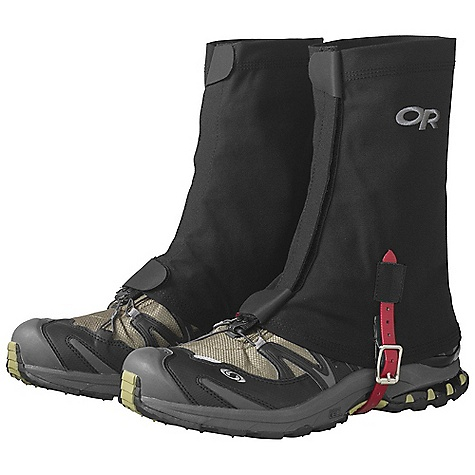 On Sale. Outdoor Research Flex-Tex Gaiters DECENT FEATURES of the Outdoor Research Flex-Tex Gaiters 1in.- Wide hook/loop front closure Top/bottom shear tabs secure front closure Double-riveted boot lace hook Urethane coated nylon instep strap The SPECS Weight: (L/XL per pair): 4.2 oz / 119 g Fabric: Stretch-woven 92% nylon, 8% spandex This product can only be shipped within the United States. Please don't hate us. - $29.99