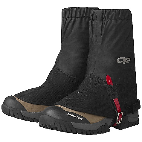 On Sale. Outdoor Research Salamander Gaiters DECENT FEATURES of the Outdoor Research Salamander Gaiters Ventia Dry construction 3-layer 50D rip-stop Ventia leg section Waterproof Cordura boot section Cordura boot section is formed with a polyethylene sheet for full, top-of-boot rain protection Seam taped for waterproofness 1in.-wide hook/loop rear-entry closure Elastic top edge Hook/loop shear tabs at top and bottom of rear closure prevent separation Double-riveted boot lace hook Urethane-coated nylon instep strap The SPECS Average Weight: (L/XL, per pair): 6.2 oz / 176 g This product can only be shipped within the United States. Please don't hate us. - $29.99