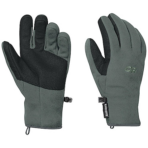 Free Shipping. Outdoor Research Men's Gripper Gloves DECENT FEATURES of the Outdoor Research Men's Gripper Gloves Durable Breathable Lightweight Wicking Quick Drying Sure grip Palm Pre-Curved Box Construction Tapered Wrist Pull Loop The SPECS Weight: (L, per pair): 3.0 oz / 85 g Comfort Range: 25/40deg F / -4/4deg C Windstopper 100% polyester fleece 65% polyester, 35% latex palm This product can only be shipped within the United States. Please don't hate us. - $49.95