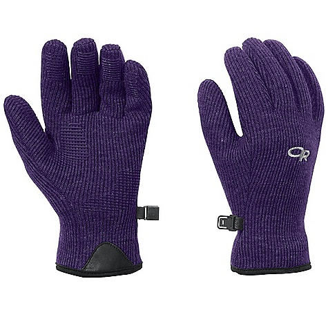 Outdoor Research Women's Flurry Gloves DECENT FEATURES of the Outdoor Research Women's Flurry Gloves Breathable Wicking Quick Drying Silicone Grip Pads on Palm and Finger Tips MotionWrap Construction for Minimal Seaming Leather Grab Tab at Wrist Pull Loop Glove Clip The SPECS Weight: (M, per pair): 2.2 oz / 61 g Comfort Range: 25/40deg F / -4/4deg C Alpine-wool Plus 40% polyester, 42% wool, 18%, nylon 100% polyester back This product can only be shipped within the United States. Please don't hate us. - $37.95