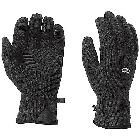 Outdoor Research Men's Flurry Gloves DECENT FEATURES of the Outdoor Research Men's Flurry Gloves Breathable Wicking Quick Drying Silicone Grip Pads on Palm and Finger Tips MotionWrap Construction for Minimal Seaming Leather Grab Tab at Wrist Pull Loop Glove Clip The SPECS Weight: (L, per pair): 2.7 oz / 77 g Comfort Range: 25/40deg F / -4/4deg C Alpine-wool Plus 40% polyester, 42% wool, 18%, nylon 100% polyester back This product can only be shipped within the United States. Please don't hate us. - $37.95