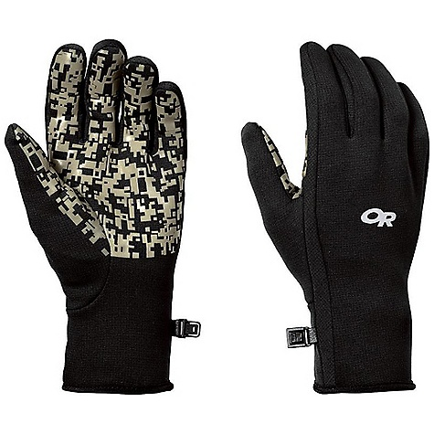 Outdoor Research Omni Gloves DECENT FEATURES of the Outdoor Research Omni Gloves Patterned glow-in-the-dark grip palm Smooth, extended cuff Snug fit for dexterity The SPECS Weight: (L, per pair): 2.4 oz / 68 g Fabric: Polartec Wind Pro stretch fleece with Hard Face finish This product can only be shipped within the United States. Please don't hate us. - $40.00