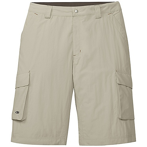 On Sale. Free Shipping. Outdoor Research Men's Equinox Cargo Shorts DECENT FEATURES of the Outdoor Research Men's Equinox Cargo Shorts Quick Drying Breathable Lightweight UPF 50+ Belt Loops Snap and Zipper Fly Front Slash Pockets Rear Pockets with Flap Closures Cargo Pockets Gusseted Crotch The SPECS Weight: (L): 8.4 oz / 239 g Inseam: 14in. / 36 cm Fit: Standard 100% Supplex nylon This product can only be shipped within the United States. Please don't hate us. - $54.99