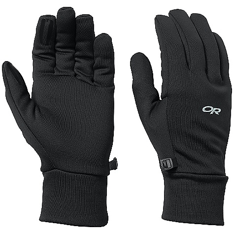 Outdoor Research Men's PL 150 Gloves DECENT FEATURES of the Outdoor Research Men's PL 150 Gloves Breathable Lightweight Wicking Quick Drying Silicone Grip Pads on Palm and Finger Tips Contoured Wrist Glove Clip The SPECS Weight: (L, per pair): 1.7 oz / 49 g Comfort Range: 30/40deg F / -1/4deg C Radiant Fleece 95% polyester, 5% spandex 150 weight This product can only be shipped within the United States. Please don't hate us. - $29.95
