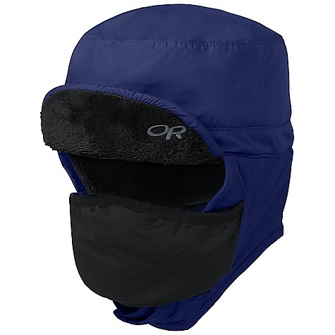 Entertainment The Frostline Hat by Outdoor Research. Designed for extreme conditions, the Frostline Hat has all the Features for ultimate protection. Water-resistant, ultralight fabric keeps out the hard elements without being heavy or bulky while Posh Pile fleece provides warm, wicking Insulation. A zip-out face mask and fleece lined earflaps provide adjustable protection from biting wind and Snow when conditions turn harsh. The foam brim can snap up for greater visibility or when not needed. Features of the Outdoor Research Frostline Hat Breathable Wind Resistant Wicking Ear Flaps - $54.00