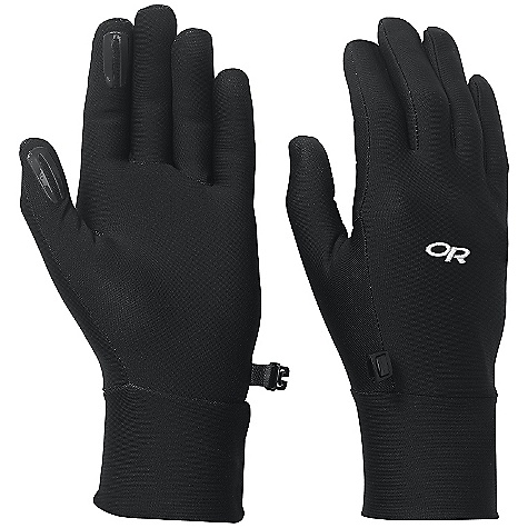 Outdoor Research Women's PL Base Glove DECENT FEATURES of the Outdoor Research Women's PL Base Glove Breathable Lightweight Wicking Quick Drying Silicone Grip Pads on Palm and Finger Tips Contoured Wrist Glove Clip The SPECS Weight: (M, per pair): 1.2 oz / 35 g Comfort Range: 40/55deg F / 4/13deg C Radiant Fleece 95% polyester, 5% spandex 50 - weight This product can only be shipped within the United States. Please don't hate us. - $22.95
