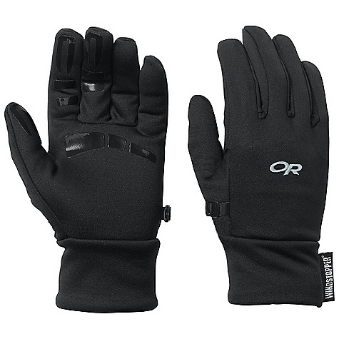 Outdoor Research Men's BackStop Gloves DECENT FEATURES of the Outdoor Research Men's BackStop Gloves Breathable Lightweight Wicking Quick Drying Silicone Grip Palm Glove Clip The SPECS Weight: (L, per pair): 2.3 oz / 64 g Comfort Range: 25/40deg F / -4/4deg C Windstopper 100% polyester back of hand Radiant Fleece 95% polyester, 5% spandex palm This product can only be shipped within the United States. Please don't hate us. - $36.95