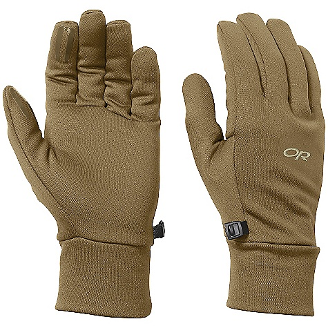 Outdoor Research Men's PL 100 Gloves DECENT FEATURES of the Outdoor Research Men's PL 100 Gloves Breathable Lightweight Wicking Quick Drying Silicone Grip Pads on Palm and Finger Tips Contoured Wrist Glove Clip The SPECS Weight: (L, per pair): 2.1 oz / 59 g Comfort Range: 35/45deg F / 2/7deg C Radiant Fleece 95% polyester, 5% spandex 100-weight This product can only be shipped within the United States. Please don't hate us. - $26.95