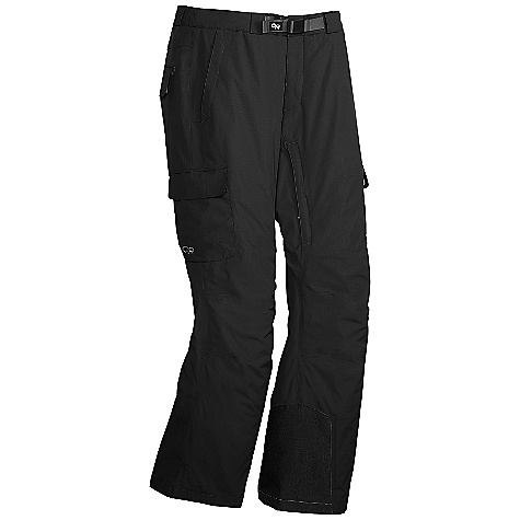 On Sale. Free Shipping. Outdoor Research Men's Igneo Pants DECENT FEATURES of the Outdoor Research Men's Igneo Pants Waterproof/breathable, 2-layer 70D Pertex Shield fabric reversed brushed tricot-lined upper legs, smooth taffeta-lined lower leg EnduraLoft insulation: 40g seat and knees Integrated Recco reflector Fully seam taped Snap and zipper fly; belt loops Accepts accessory suspenders Inner thigh vents Zippered hand pockets, one with beacon pocket with key-clip attachment Two cargo pockets and one back pocket Gusseted crotch Internal mesh gaiters with gripper elastic Articulated knees Reinforced ankle scuff guard The SPECS Average Weight: (L): 26.0 oz / 737 g Relaxed Fit This product can only be shipped within the United States. Please don't hate us. - $125.99