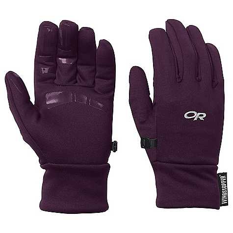 Outdoor Research Women's BackStop Gloves DECENT FEATURES of the Outdoor Research Women's BackStop Gloves Breathable Lightweight Wicking Quick Drying Silicone Grip Palm Glove Clip The SPECS Weight: (M, per pair): 1.9 oz / 55 g Comfort Range: 25/40deg F / -4/4deg C Windstopper 100% polyester back of hand Radiant Fleece 95% polyester, 5% spandex palm This product can only be shipped within the United States. Please don't hate us. - $36.95