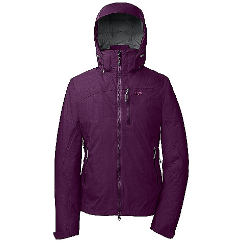 On Sale. Free Shipping. Outdoor Research Women's StormBound Jacket DECENT FEATURES of the Outdoor Research Women's Stormbound Jacket Hybrid Mapped Construction Waterproof Windproof Breathable Fully Seam Taped Tonal Seam Treatment Water-Resistant Zippers Fully Adjustable and Detachable Hood Fits Over Helmet Internal Front-Zip Stormflap Zip-Out Balaclava Pit Zips Zippered Napoleon Pocket with Media Port Two Zippered Hand Pockets Arm Pocket Inner Lift Pass Pocket with Drawcord Key Clip Attachment Integrated Recco Reflector Removable Powder Skirt with LockDown Technology Thumb Drive Hook/Loop Cuff Closures The SPECS Weight: (M): 33.4 oz / 947 g Relaxed Fit Center Back Length: 127 1/4in. / 69 cm Pertex Shield 2L, 68% polyester, 32% nylon 40D 650 Fill Down Insulation Thermore insulation below powder skirt This product can only be shipped within the United States. Please don't hate us. - $218.99