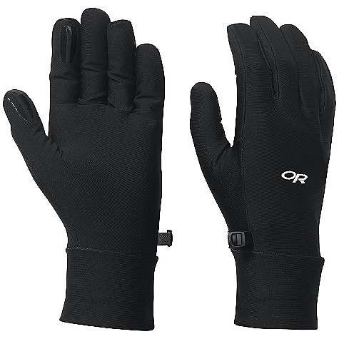 Outdoor Research Men's PL Base Gloves DECENT FEATURES of the Outdoor Research Men's PL Base Gloves Breathable Lightweight Wicking Quick Drying Silicone Grip Pads on Palm and Finger Tips Contoured Wrist Glove Clip The SPECS Weight: (L, per pair): 1.4 oz / 39 g Comfort Range: 40/55deg F / 4/13deg C Radiant Fleece 95% polyester, 5% spandex 50 - weight This product can only be shipped within the United States. Please don't hate us. - $22.95