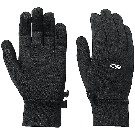 Outdoor Research Women's PL 150 Gloves DECENT FEATURES of the Outdoor Research Women's PL 150 Gloves Breathable Light weight Wicking Quick Drying Silicone Grip Pads on Palm and Finger Tips Contoured Wrist Glove Clip The SPECS Weight: (M, per pair): 1.4 oz / 41 g Comfort Range: 30/40deg F / -1/4deg C Radiant Fleece 95% polyester, 5% spandex 150 weight This product can only be shipped within the United States. Please don't hate us. - $29.95