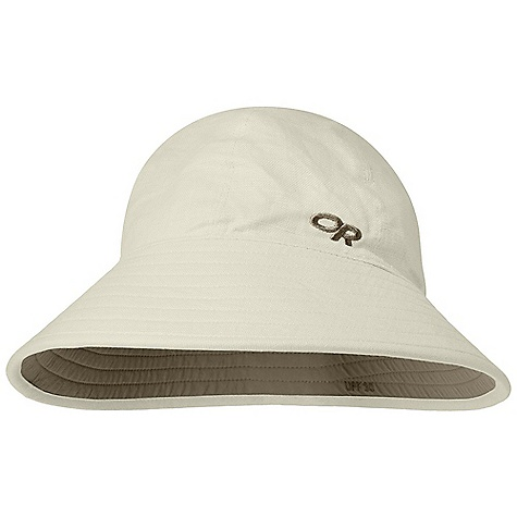 Outdoor Research  Women's Arroyo Bucket DECENT FEATURES of the Outdoor Research Women's Arroyo Bucket Breathable Lightweight Wicking Protective SolarShield Construction UPF 30+ Reversible The SPECS Weight: (M): 2.5 oz / 72 g 100% cotton Supplex 100% nylon (on reverse side) This product can only be shipped within the United States. Please don't hate us. - $36.95
