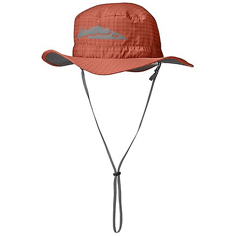 Outdoor Research Kids' Helios Sun Hat FEATURES of the Outdoor Research Kids' Helios Sun Hat Breathable Lightweight Wicking Protective SolarShield Construction UPF 30 Foam-Stiffened Brim Floats Wicking TransAction Headband External Drawcord Adjustment Removable Chin Cord Graphic Treatment Break-Away Chin Cord - $30.00