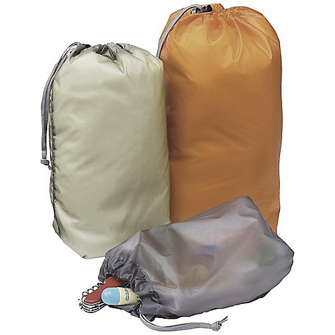Outdoor Research Ultralight Ditty Sacks DECENT FEATURES of the Outdoor Research Ultralight Ditty Sacks Set of 3 ditty bags: 1 small, 1 medium, 1 large Ultra light Draw cord with cord lock The SPECS Fabric: 100% nylon, 40D Sil, Nyl rip stop The SPECS for Small Average Weight: 0.5 oz / 14 g Dimension/ Rolled: 8 5/8 x 4 1/4in. / 22 x 11 cm Volume: 183 cubic inches / 3 liter The SPECS for Medium Average Weight: 0.6 oz / 17 g Dimension/ Rolled: 11 1/4 x 4 3/4in. / 29 x 12 cm Volume: 244 cubic inches / 4 liter The SPECS for Large Average Weight: 0.7 oz / 20 g Dimension/ Rolled: 12 7/8 x 5 1/2in. / 33 x 14 cm Volume: 366 cubic inches / 6 liter This product can only be shipped within the United States. Please don't hate us. - $26.95