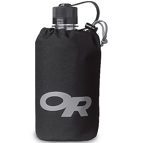 Entertainment On Sale. Outdoor Research Water Bottle Tote DECENT FEATURES of the Outdoor Research Water Bottle Tote Durable Water-resistant Qik-Stik attachment system Draw cord with cord lock The SPECS Weight: 1.6 oz / 44 g Fabric: 100% nylon; 500D Ordure This product can only be shipped within the United States. Please don't hate us. - $8.99
