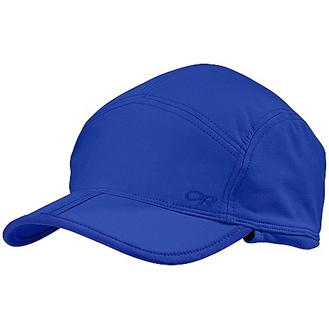 Outdoor Research Exos Cap DECENT FEATURES of the Outdoor Research Exos Cap Breathable Wicking Folding Brim for Easy Storage Ear Flaps Back Stretch Panel Adjusts Fit The SPECS Weight: 2.8 oz / 80 g 50% nylon, 43% polyester, 7% spandex double-weave, stretch-woven fabric This product can only be shipped within the United States. Please don't hate us. - $31.95