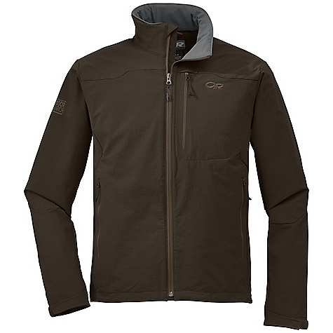 On Sale. Free Shipping. Outdoor Research Men's Cirque Jacket DECENT FEATURES of the Outdoor Research Men's Cirque Jacket Durable Highly breathable Wind resistant Adjustable brushed tricot collar Internal front zip storm flap Multiple utility pockets: chest, internal, hand warmer Pockets sit above harness/hip belt Hook/loop cuff closures Drawcord hem The SPECS Weight: (L): 20.6 oz / 583 g Fit: Trim Center Back Length: 28 1/2in. / 72 cm Fabric: 50% nylon / 43% polyester / 7% spandex, double-weave, stretch woven fabric This product can only be shipped within the United States. Please don't hate us. - $103.99