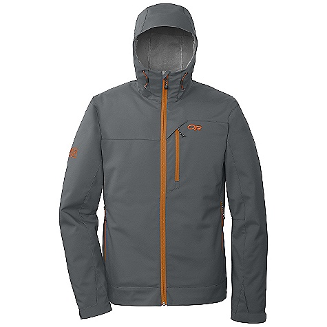 Free Shipping. Outdoor Research Men's Transfer Hoodie FEATURES of the Outdoor Research Men's Transfer Hoodie Water Resistant Wind Resistant Breathable Fully Adjustable Hood Brushed-Tricot-Lined Collar Single-Separating Front Zipper Zippered Napoleon Pocket Two Zippered Hand Pockets Hook/Loop Cuff Closures Drawcord Hem - $140.00