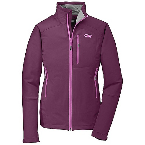 Free Shipping. Outdoor Research Women's Cirque Jacket DECENT FEATURES of the Outdoor Research Women's Cirque Jacket Durable Highly breathable Wind resistant Adjustable brushed tricot collar Internal front zip storm flap Multiple utility pockets: chest, internal, handwarmer Pockets sit above harness/hip belt Hook/loop cuff closures Drawcord hem The SPECS Weight: (M): 17.3 oz / 489 g Fit: Trim Center Back Length: 25in. /64 cm Fabric: 50% nylon / 43% polyester / 7% spandex, double-weave, stretch woven fabric This product can only be shipped within the United States. Please don't hate us. - $149.95