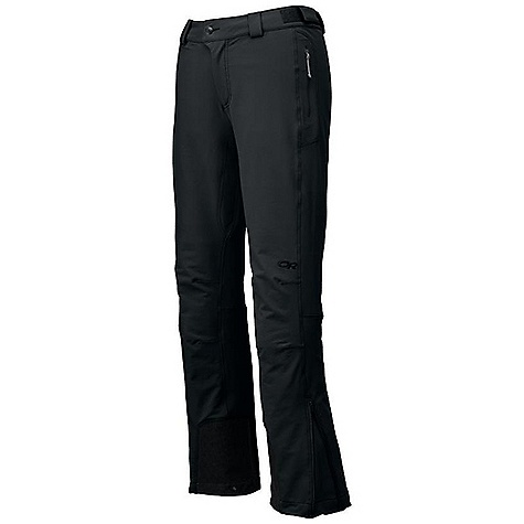 Free Shipping. Outdoor Research Women's Cirque Pant FEATURES of the Outdoor Research Women's Cirque Pant Water Resistant Wind Resistant Breathable Durable Belt Loops Button and Zipper Fly Low-Profile Waist Fits Under Harness Zippered Pockets Gusseted Crotch Articulated Knees Reinforced Scuff Guards Grommets for Instep Lace Boot Lace Hook DWR Coated Zippers - $150.00