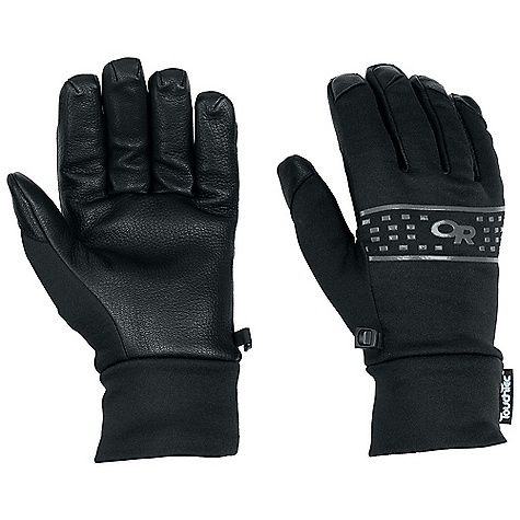 Free Shipping. Outdoor Research Men's Sensor Glove DECENT FEATURES of the Outdoor Research Men's Sensor Glove Water Resistant Breathable Lightweight Wicking Quick Drying Touch-Screen Compatible Soft and Tactile Leather Palm MotionWrap Construction for Minimal Seaming MirrorSeam Double-Layer Fleece Construction Contoured Wrist The SPECS Weight: (L, per pair): 3.5 oz / 99 g Comfort Range: 25/45deg F / -4/7deg C Radiant Fleece 95% polyester, 5% spandex, 100-weight 100% goat leather palm This product can only be shipped within the United States. Please don't hate us. - $68.95