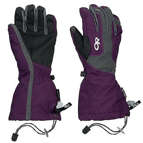 Free Shipping. Outdoor Research Women's Arete Glove DECENT FEATURES of the Outdoor Research Women's Arete Glove Waterproof Breathable Removable liner 100-weight fleece insulation Wrap-around AlpenGrip palm Pre-curve construction SuperCinch gauntlet closure Silicone grip liner palm Heat pack pocket on back The SPECS Weight: (M, per pair with liner) 6.6 oz / 188 g Fabric: Gore-Tex insert with / Extra fit technology; soft shell stretch fabric on back of hand, oxford nylon shell, 100-weight fleece liner This product can only be shipped within the United States. Please don't hate us. - $88.95