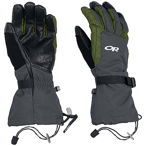 On Sale. Free Shipping. Outdoor Research Ambit Glove DECENT FEATURES of the Outdoor Research Ambit Glove Waterproof Breathable TouchTec Leather palm technology allows use of touch screen mobile deviceswith gloves on Leather palm provides solid grip of poles and tools EnduraLoft insulation: 266g on back of hand and thumb Soft fleece lining at palm Tricot lining at back of hand Flex Action wrist articulation matches natural, active-hand position whileskiing Pre-curve construction Ladder-lock wrist cinch with easy-grip tab Soft nose wipe on thumb SuperCinch gauntlet closure The SPECS Weight: (L, per pair): 8.2 oz / 232 g Fabric: Ventia Dry construction Durable nylon shell back of hand Ripstop gauntlet This product can only be shipped within the United States. Please don't hate us. - $58.99