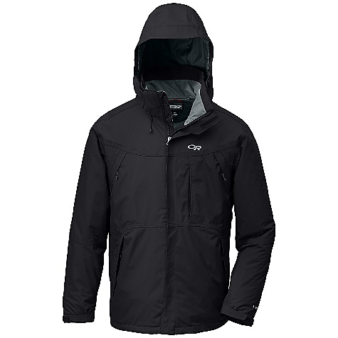 On Sale. Free Shipping. Outdoor Research Men's Backbowl Jacket DECENT FEATURES of the Outdoor Research Men's Backbowl Jacket Waterproof/breathable 2-layer 70D Pertex Shield fabric reversed brushed tricot-mesh lining taffeta lining shoulders Integrated Recco reflector Fully seam taped Zip-off, adjustable hood fits over a helmet Double-separating front zipper with external storm flap Double-sliding Cross-Flo chest-to-hip zippers Articulated elbows Zippered napoleon pocket and two zippered hand warmer pockets Zippered internal chest pocket Inner lift pass pocket with drawcord key-clip attachment Nylon/spandex-knit mesh powder skirt with gripper elastic snaps into powder skirt garage Hook/loop cuff closures Dual drawcord hem adjustment The SPECS Target Weight: (L): 31.8 oz / 900 g Center Back Length: 31in. / 78 cm Relaxed Fit This product can only be shipped within the United States. Please don't hate us. - $144.99