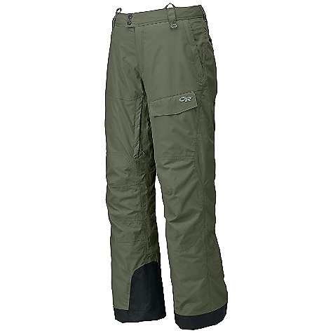 On Sale. Free Shipping. Outdoor Research Men's Backbowl Pant DECENT FEATURES of the Outdoor Research Men's Backbowl Pant Waterproof/breathable, 2-layer 70D Pertex Shield fabric; reversed brushed tricot mesh-lined upper legs, smooth taffeta-lined lower leg Integrated Recco reflector Fully seam taped Snap and zipper fly; belt loops Accepts accessory suspendors Inner thigh vents Zippered hand pockets, one with beacon pocket with key-clip attachment Two back hook/loop flap pockets zippered security pocket Hook/loop cargo pocket Fully-engineered leg shaping to maximize natural movement Gusseted crotch Internal mesh gaiters with gripper elastic Reinforced ankle scuff guards The SPECS Target Weight: (L): 24.0 oz / 680 g Relaxed Fit This product can only be shipped within the United States. Please don't hate us. - $103.99