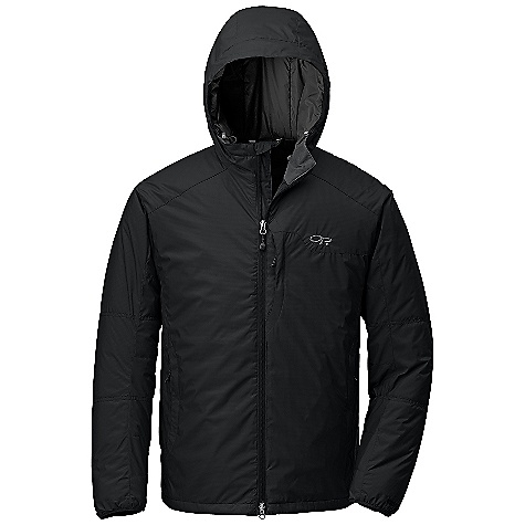 Free Shipping. Outdoor Research Men's Havoc Jacket DECENT FEATURES of the Outdoor Research Men's Havoc Jacket Highly weather resistant Breathable Prima Loft ECO 60 g insulation Fully adjustable hood Double-sliding front zipper with internal storm flap Zippered napoleon pocket Zippered internal chest pocket with media port Two zippered hand warmer pockets; one doubles as stuff sack Two internal Shove-It pockets with drawcord closure Stretch binding on cuffs Drawcord hem The SPECS Weight: (L): 17.3 oz / 490 g Fit: Standard Center Back Length: 30 1/2in. / 75 cm Fabric: 100% nylon, 2-layer with PU laminate Gore Windstopper outer / 100% quilted nylon taffeta lining This product can only be shipped within the United States. Please don't hate us. - $225.00