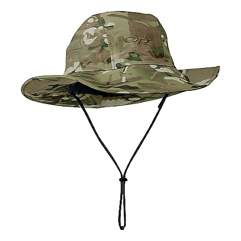 Free Shipping. Outdoor Research Multicam Seattle Sombrero DECENT FEATURES of the Outdoor Research Multicam Seattle Sombrero Backpacker Magazine's 2005 Editor's Choice Gold Award Waterproof Breathable Moisture-Managing Seam Taped Foam-Stiffened Brim Floats Brushed Tricot Lining Internal Cinch-Band Adjustment Hook/Look Tabs Secure Brim to Dome Removable Chin Cord The SPECS Weight: (L): 3.2 oz / 91 g Brim: 3in. front and sides, 3 3/4in. back / 8 cm front and sides, 9.5 cm back Gore-Tex 3L, 100% nylon 70D Taslan Crown and brim 100% polyester lining This product can only be shipped within the United States. Please don't hate us. - $74.95