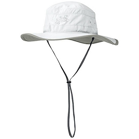 Outdoor Research Women's Solar Roller Hat DECENT FEATURES of the Outdoor Research Women's Solar Roller Hat Lightweight sun protection Solar Shield construction UPF 30 Foam-stiffened brim floats Transaction headband Draw cord adjustment Removable chin cord Brim: 2 3/4in. / 7cm The SPECS Weight: (M): 2.3 oz / 65 g Fabric: 100% Supplex nylon This product can only be shipped within the United States. Please don't hate us. - $35.95